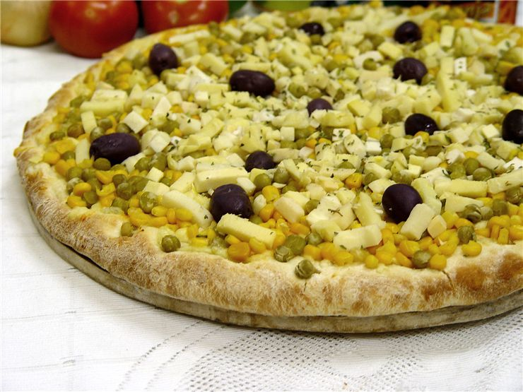 Picture Of Fast Food Green Pizza