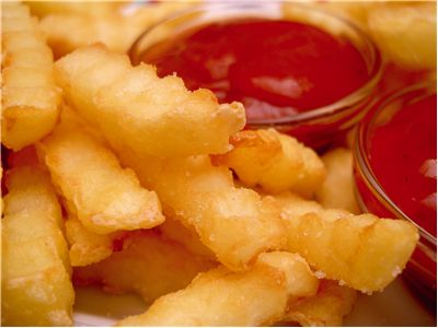 Picture Of French Fries With Ketchup