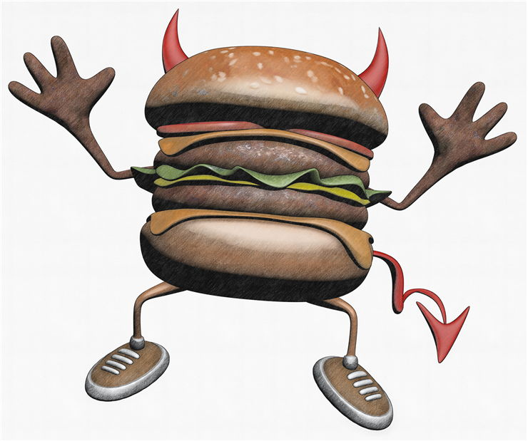 Picture Of Hamburger Danger
