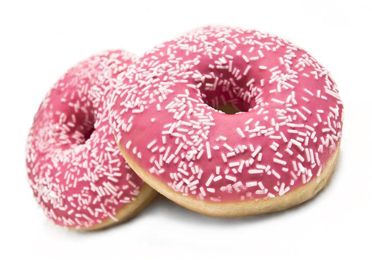 Picture Of Pink Donuts